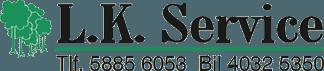 Skoventreprenørfirma L.K. Service Sjælland, logo